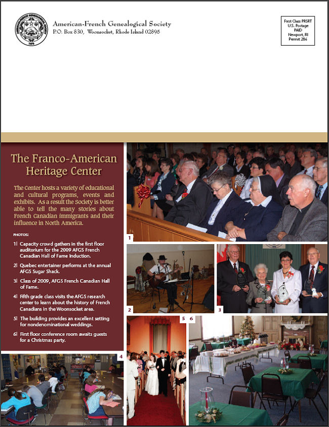 AFGS Franco-American Heritage Center brochure